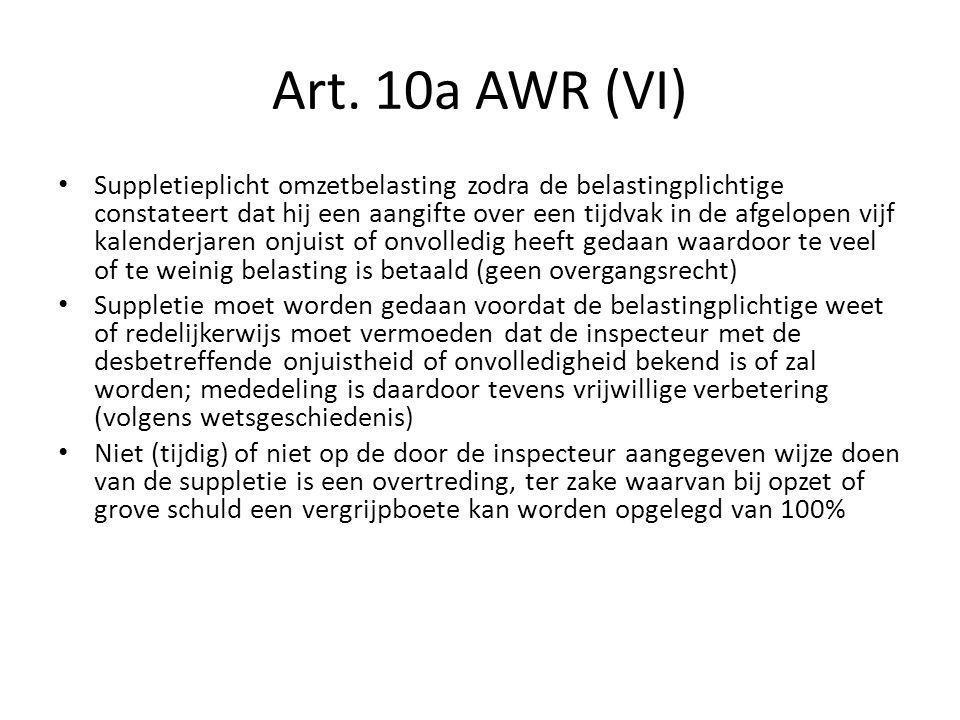 Art. 10a AWR (VI)