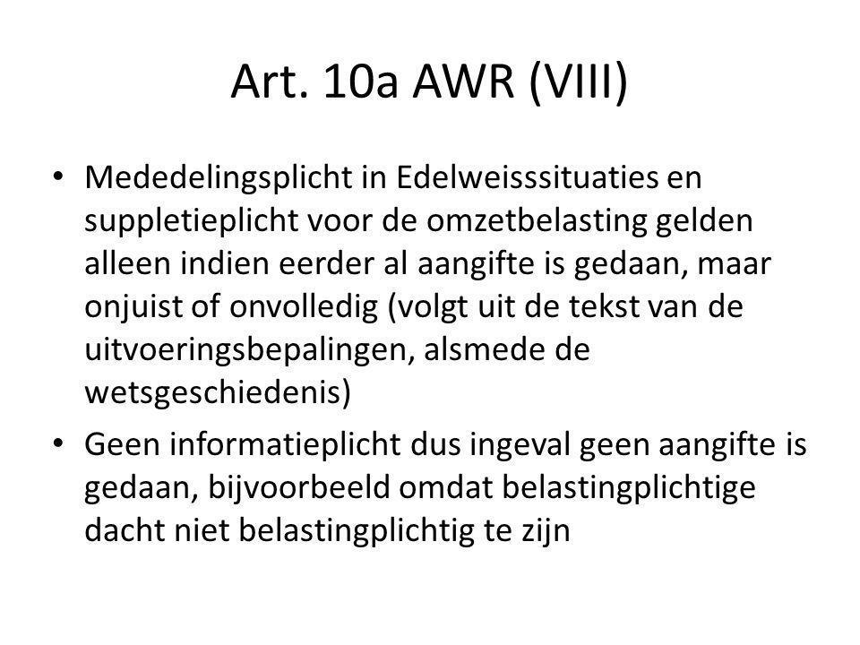 Art. 10a AWR (VIII)