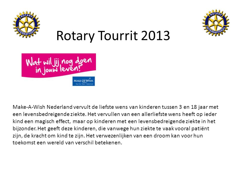 Rotary Tourrit 2013