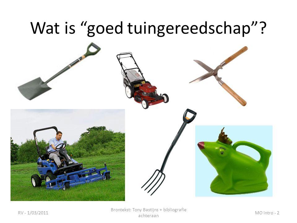 Wat is goed tuingereedschap