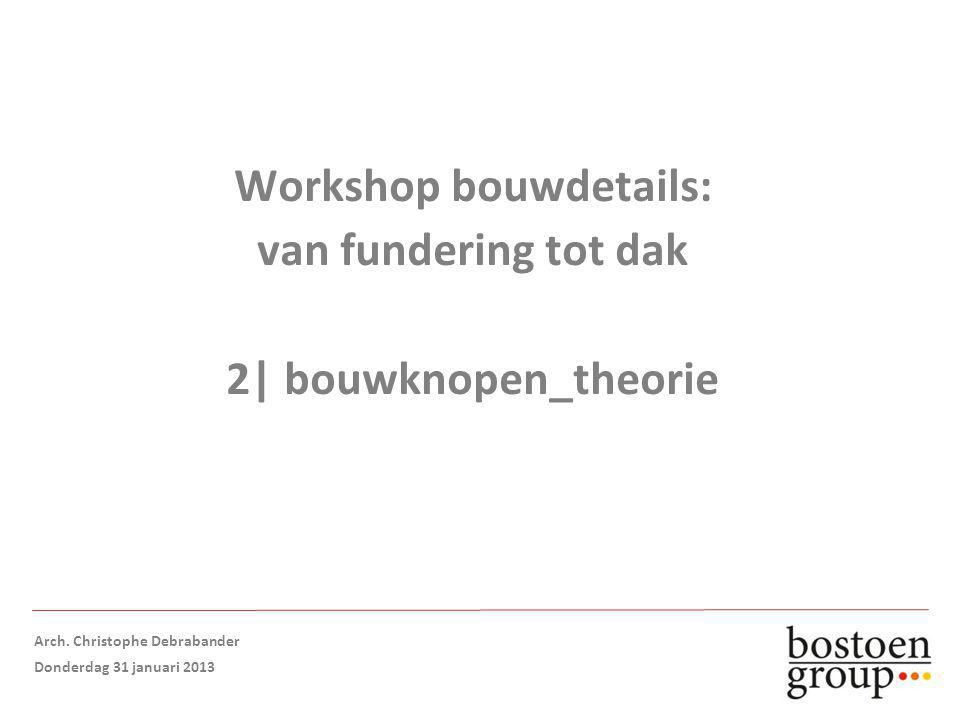 Workshop bouwdetails: