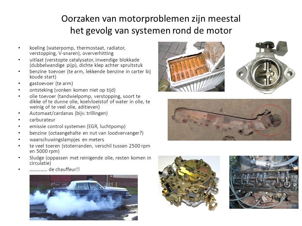 Oorzaken van motorproblemen zijn meestal het gevolg van systemen rond de motor