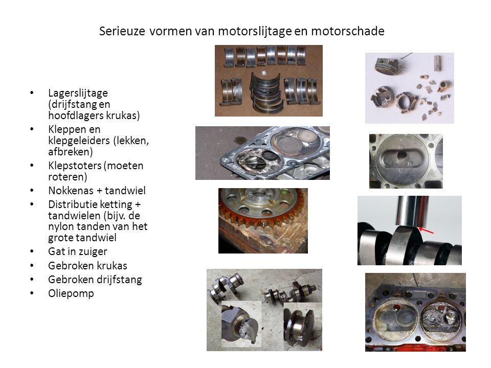 Serieuze vormen van motorslijtage en motorschade