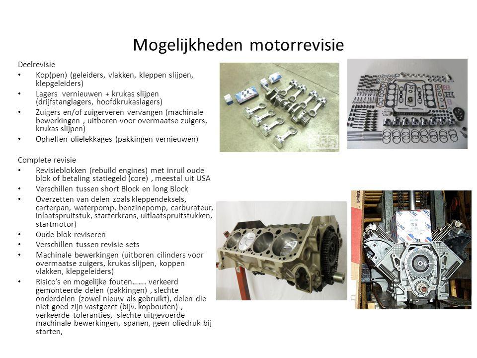 Mogelijkheden motorrevisie