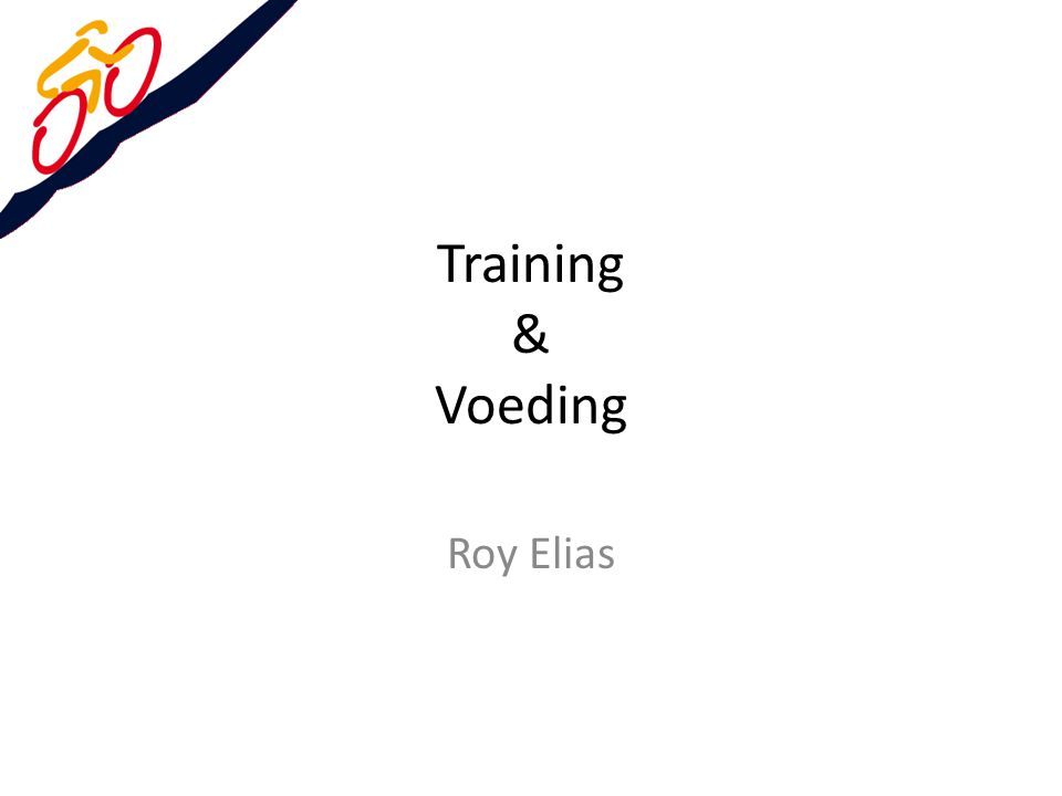 Training & Voeding Roy Elias