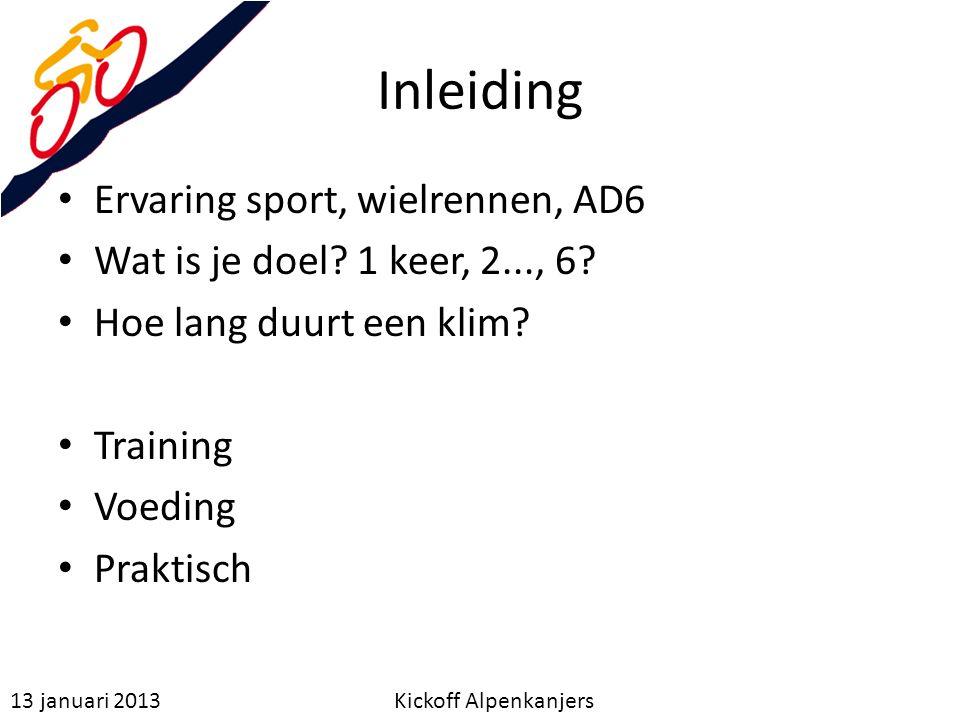Inleiding Ervaring sport, wielrennen, AD6