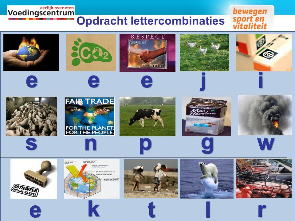 Opdracht lettercombinaties