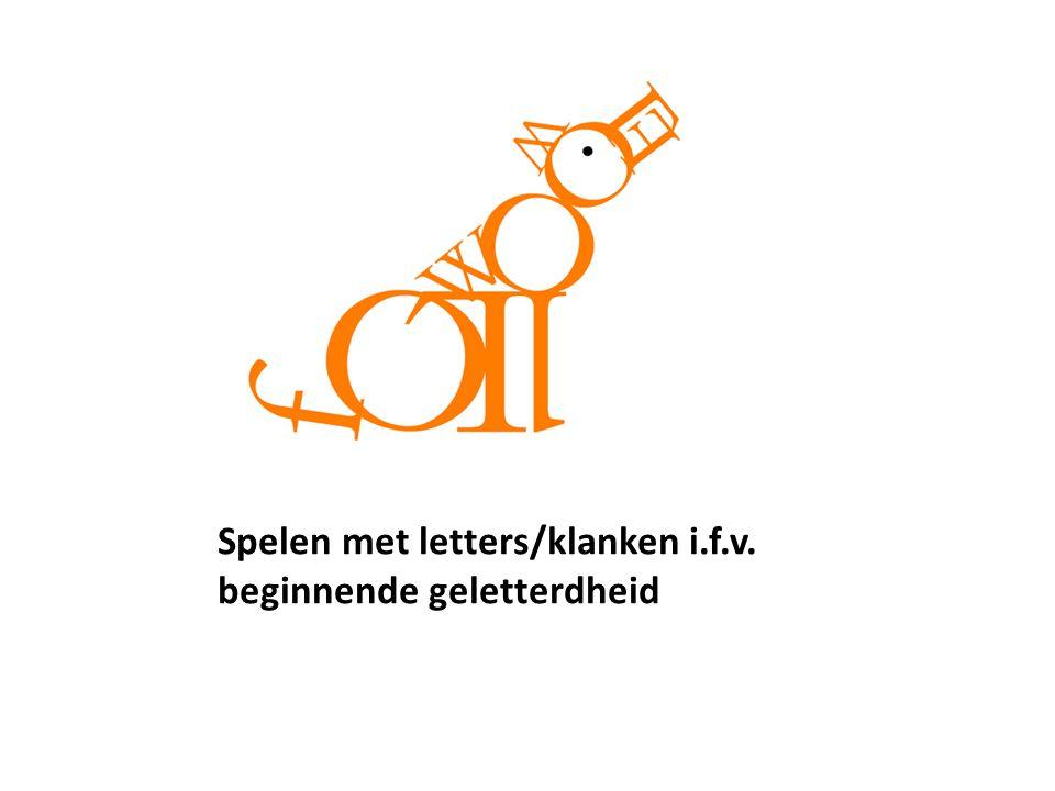 Spelen met letters/klanken i.f.v. beginnende geletterdheid