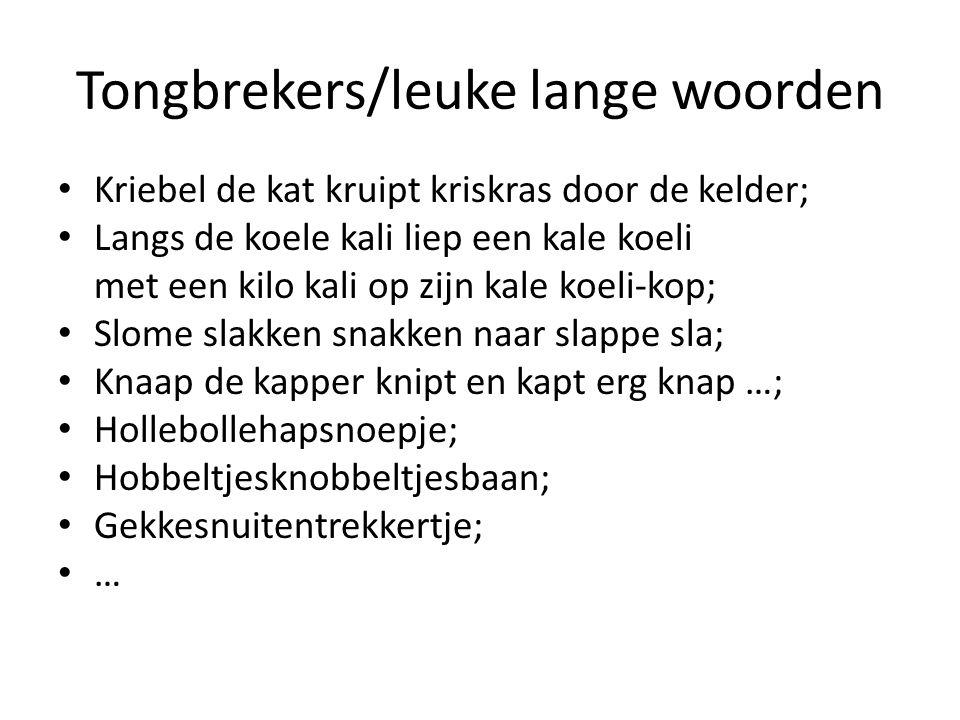 Tongbrekers/leuke lange woorden