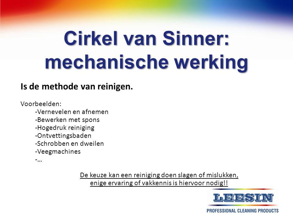 Cirkel van Sinner: mechanische werking