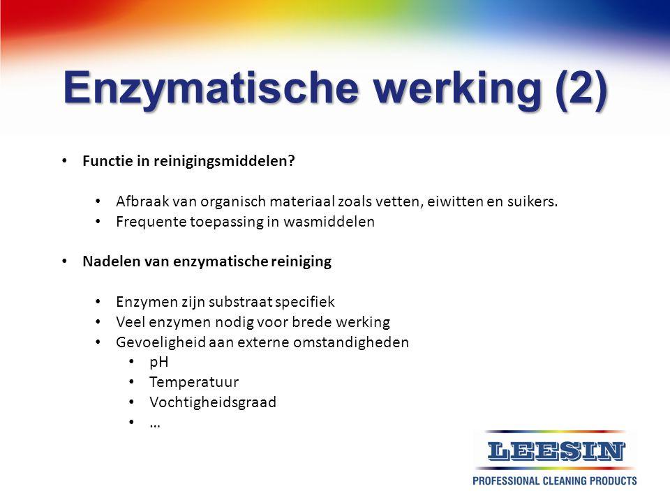 Enzymatische werking (2)