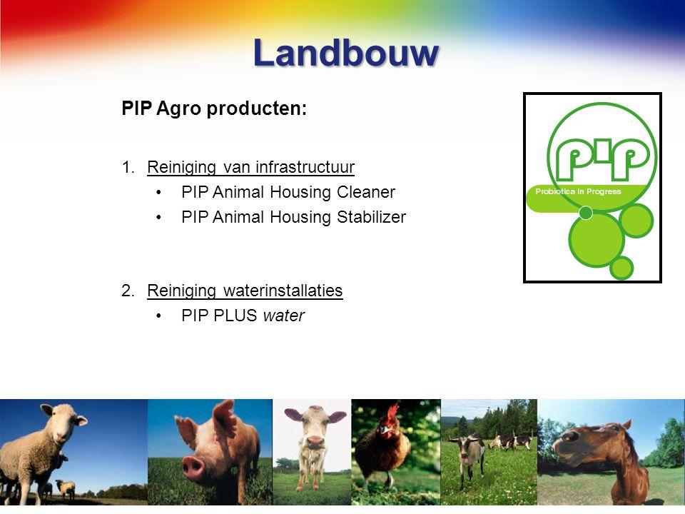 Landbouw PIP Agro producten: Reiniging van infrastructuur