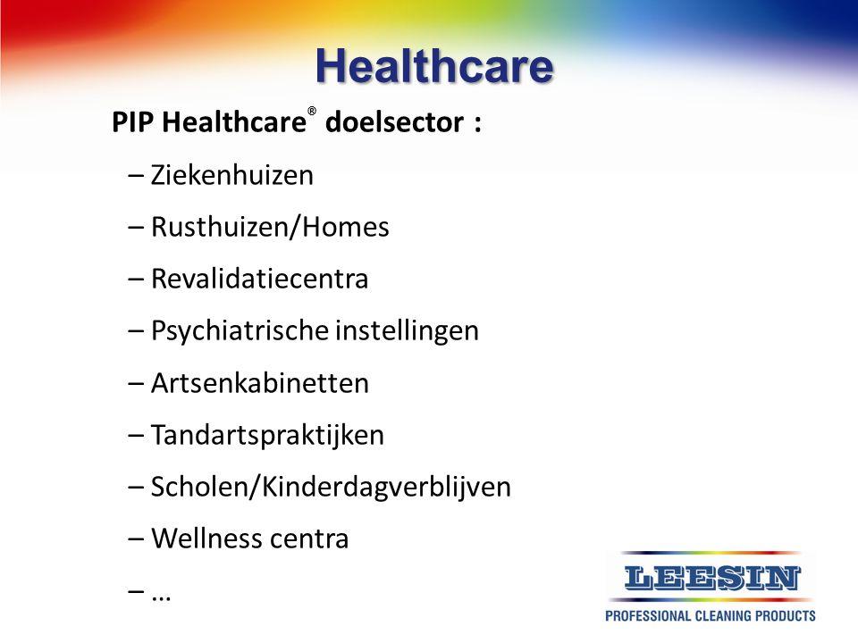 Healthcare PIP Healthcare® doelsector : Ziekenhuizen Rusthuizen/Homes