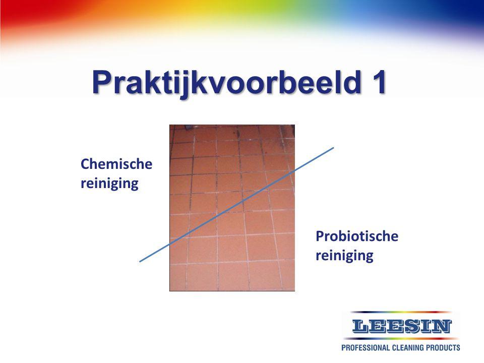 Praktijkvoorbeeld 1 Chemische reiniging Probiotische reiniging