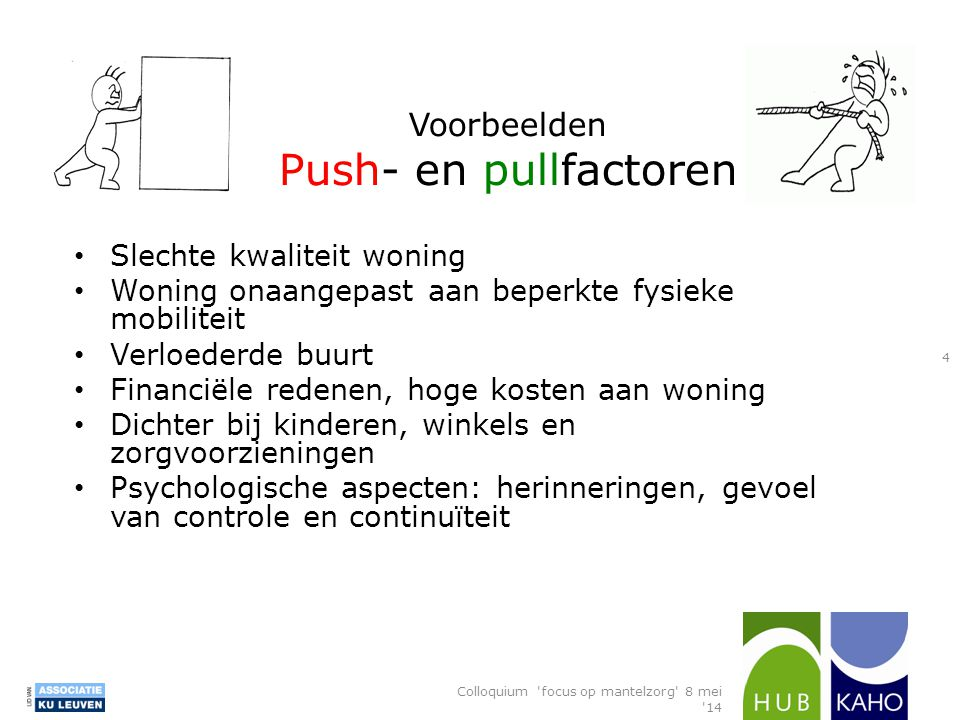 Voorbeelden Push- en pullfactoren
