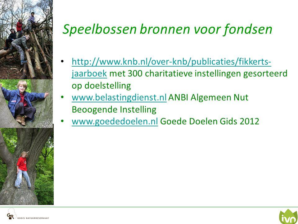 Speelbossen bronnen voor fondsen