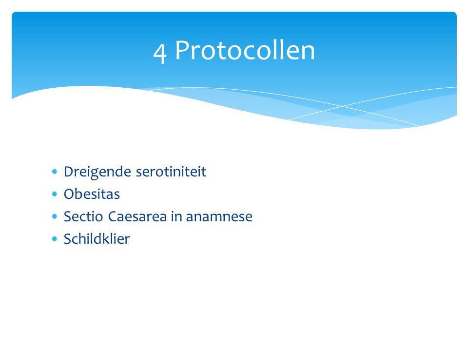 4 Protocollen Dreigende serotiniteit Obesitas