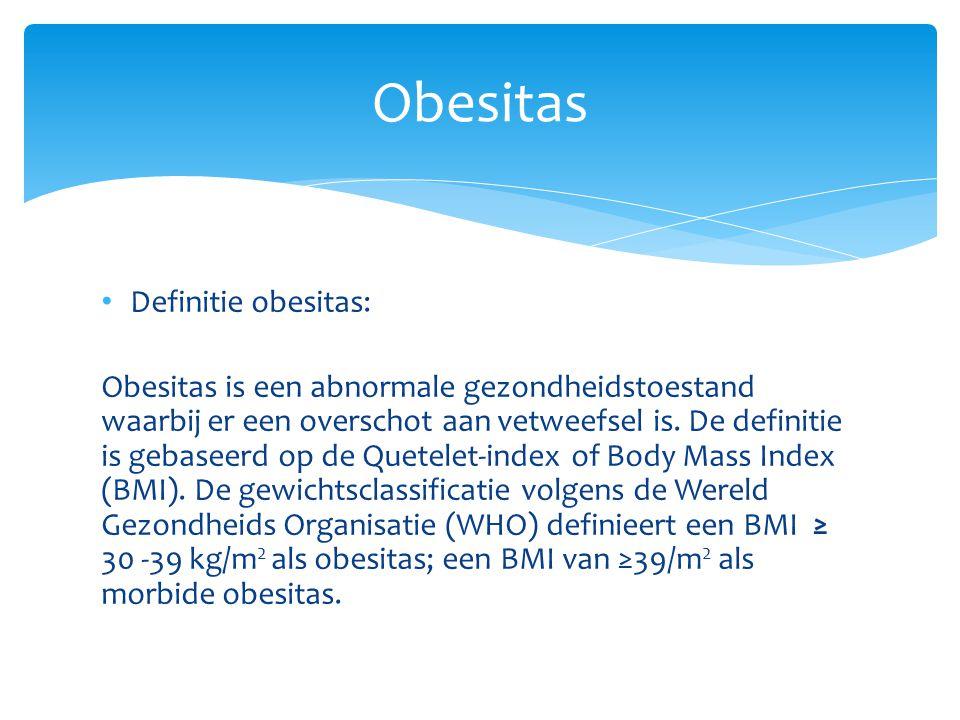 Obesitas Definitie obesitas: