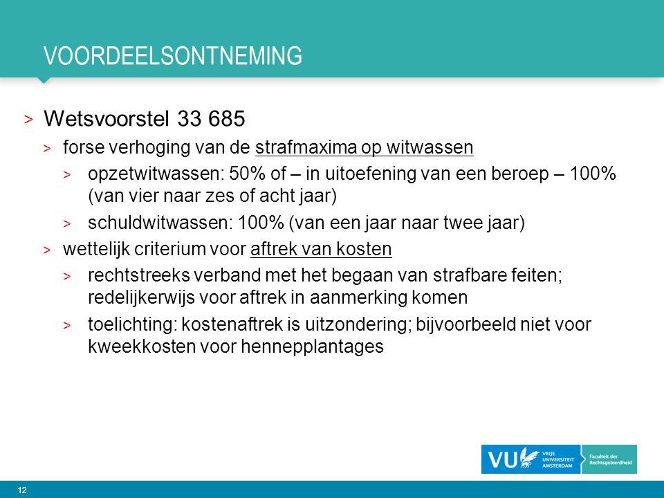 voordeelsontneming Wetsvoorstel 33 685