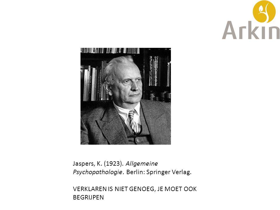 Jaspers, K. (1923). Allgemeine Psychopathologie