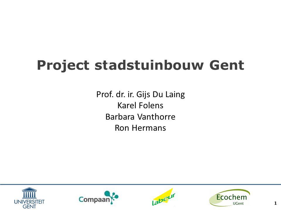 Project stadstuinbouw Gent Prof. dr. ir