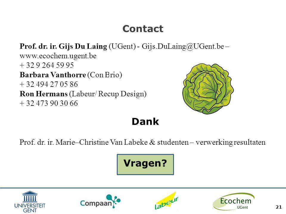 Contact Prof. dr. ir. Gijs Du Laing (UGent) - Gijs.DuLaing@UGent.be – www.ecochem.ugent.be. + 32 9 264 59 95.