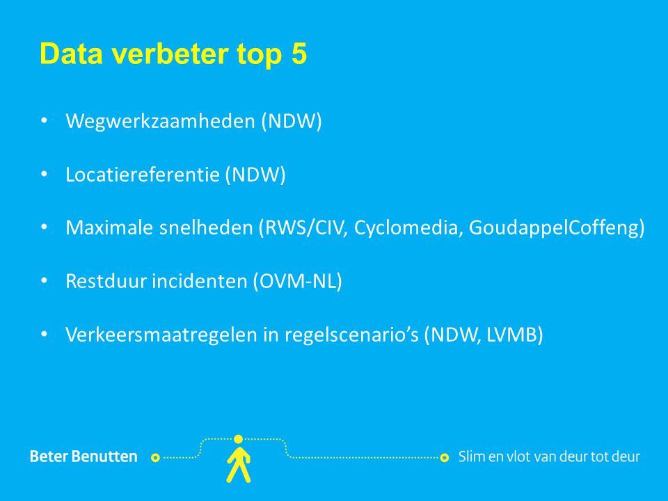 Titel hier Data verbeter top 5 Wegwerkzaamheden (NDW)