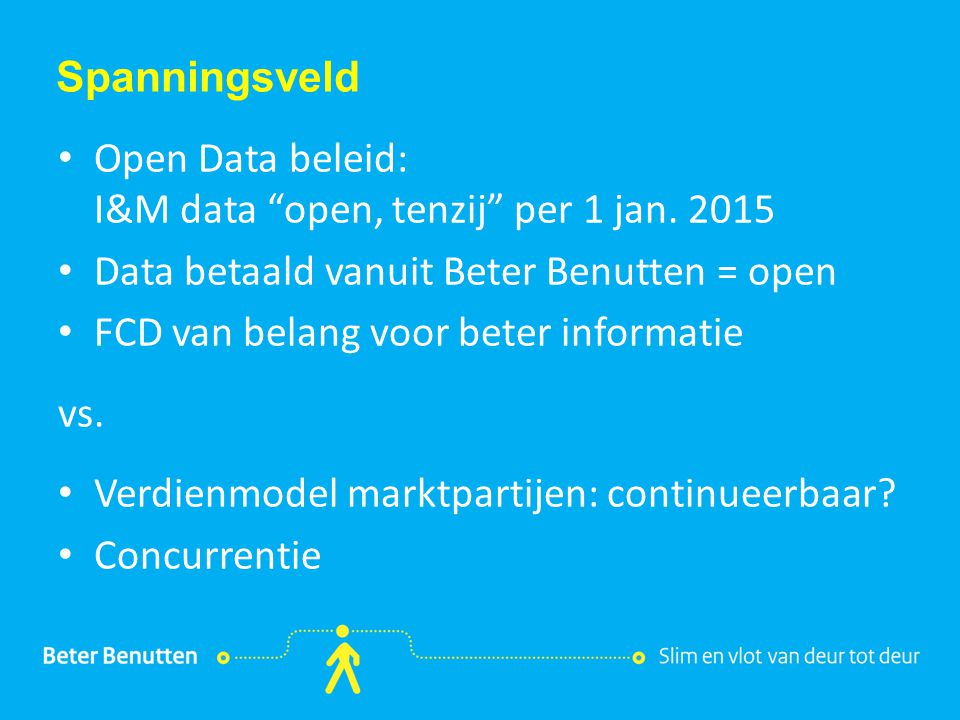 Open Data beleid: I&M data open, tenzij per 1 jan. 2015