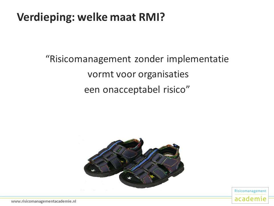 Verdieping: welke maat RMI