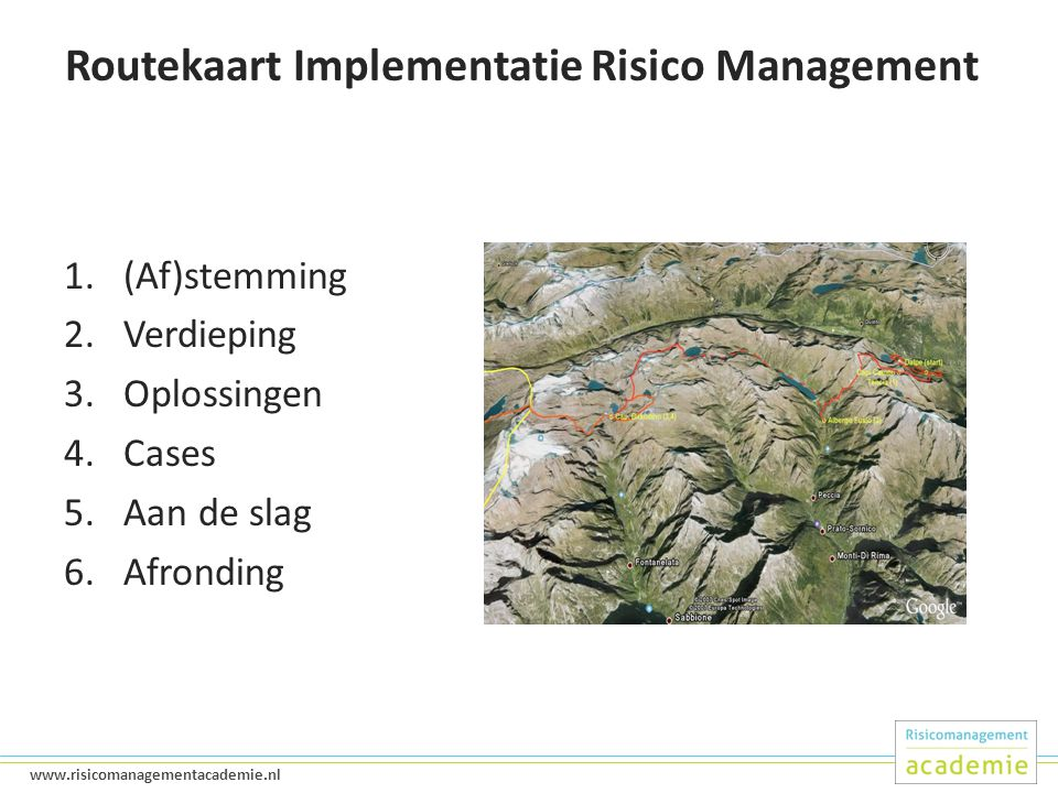 Routekaart Implementatie Risico Management