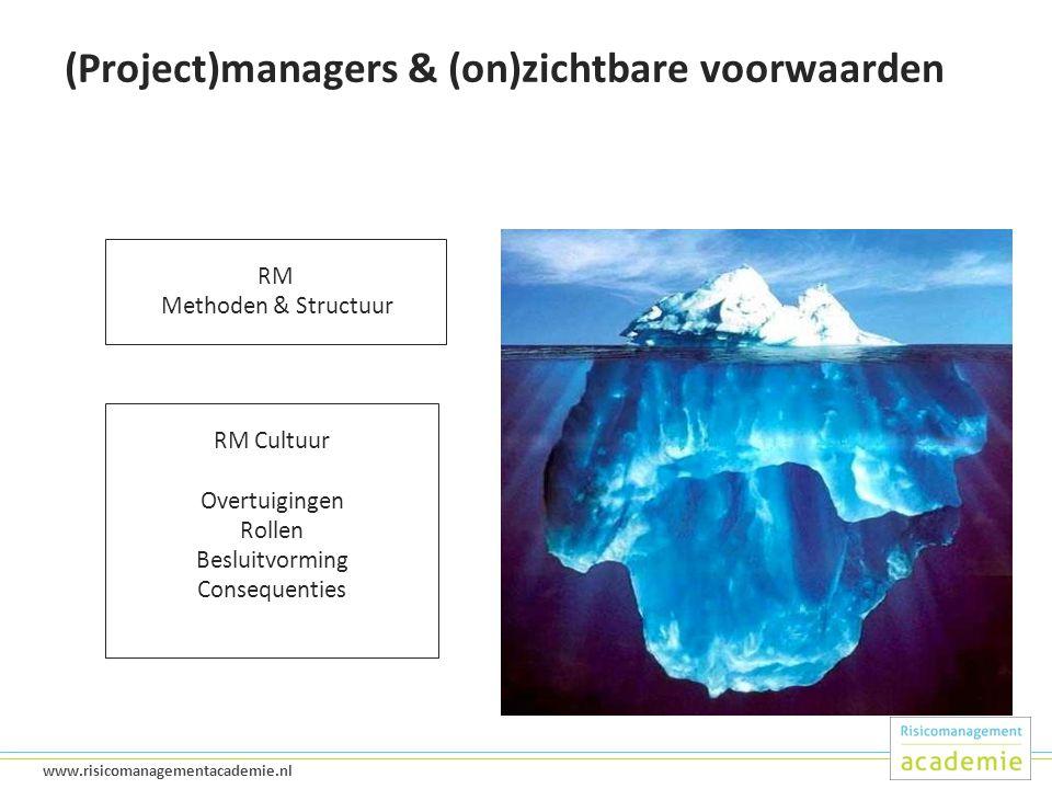 (Project)managers & (on)zichtbare voorwaarden