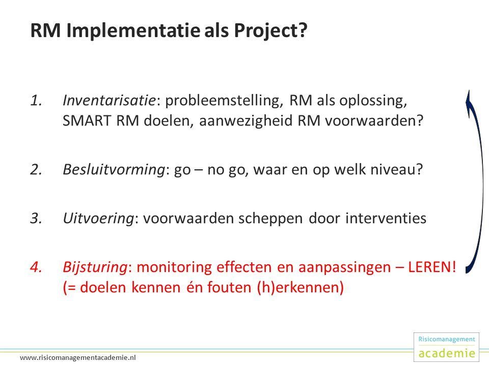 RM Implementatie als Project
