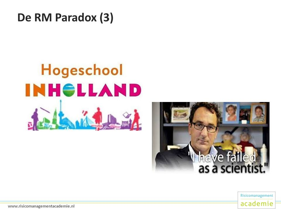 De RM Paradox (3)