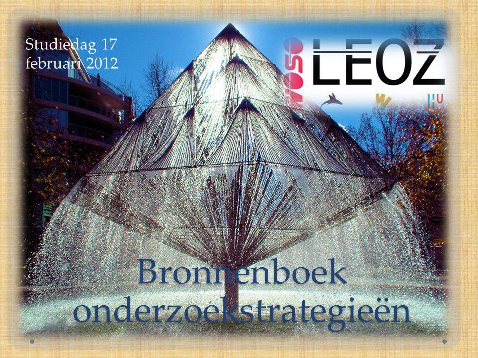 Bronnenboek onderzoekstrategieën