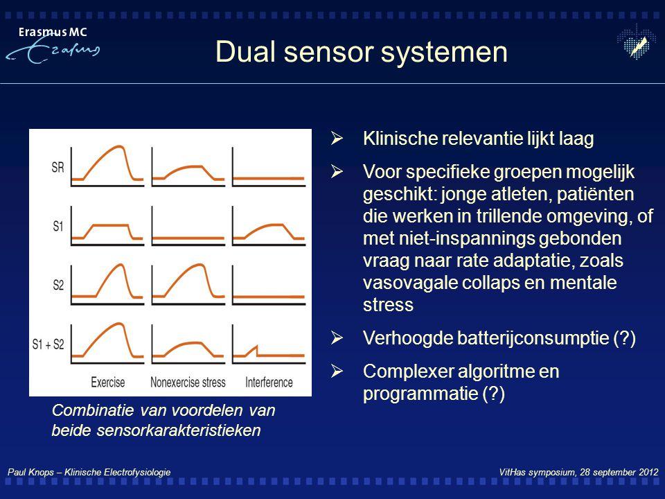 Dual sensor systemen Klinische relevantie lijkt laag