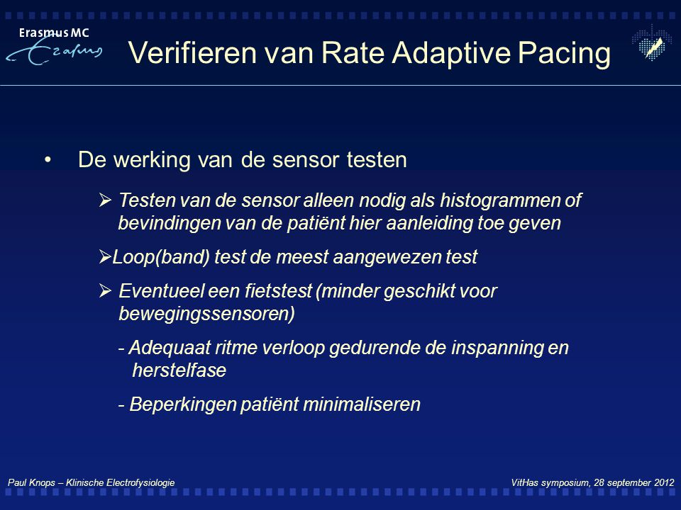Verifieren van Rate Adaptive Pacing