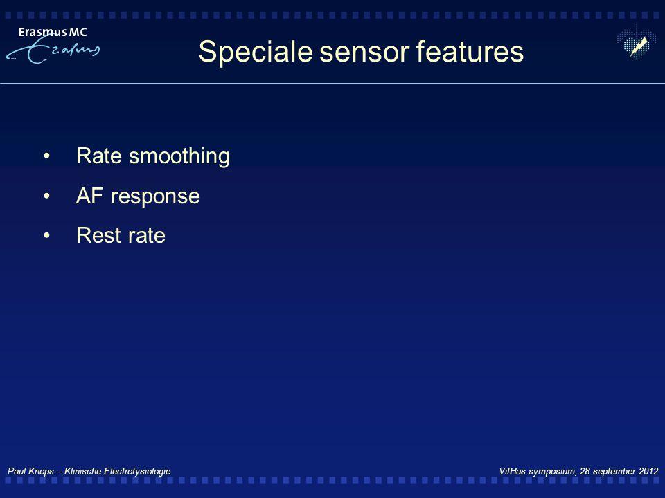 Speciale sensor features