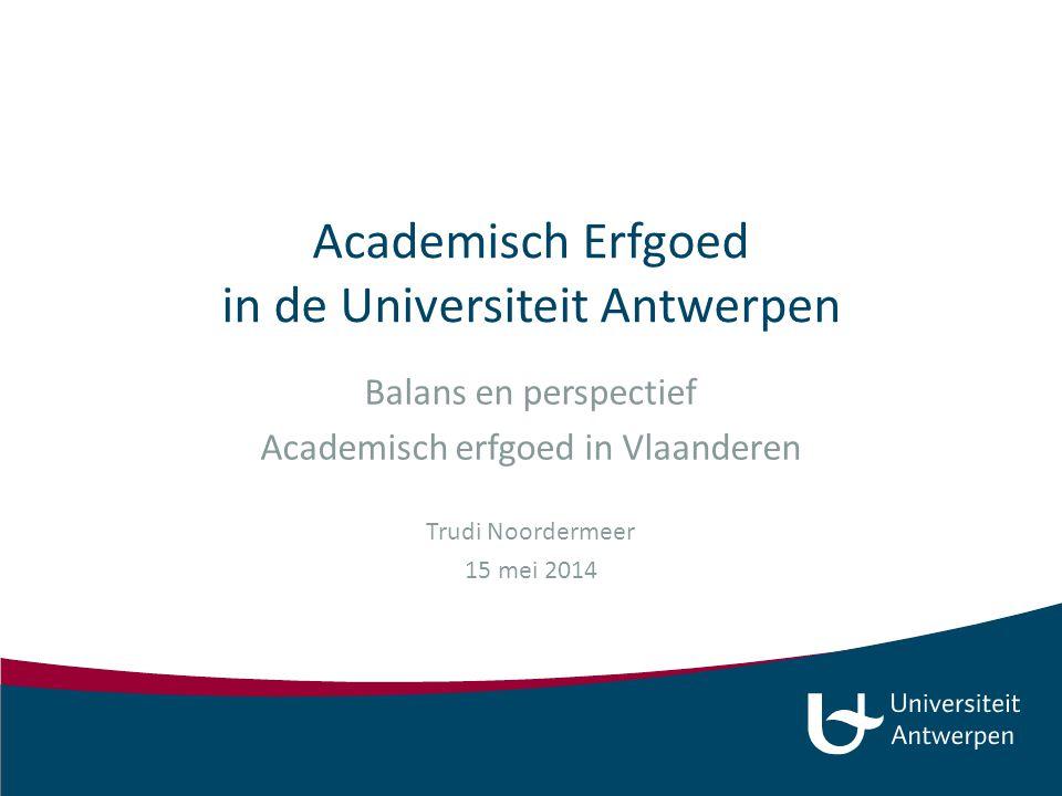 Academisch Erfgoed in de Universiteit Antwerpen