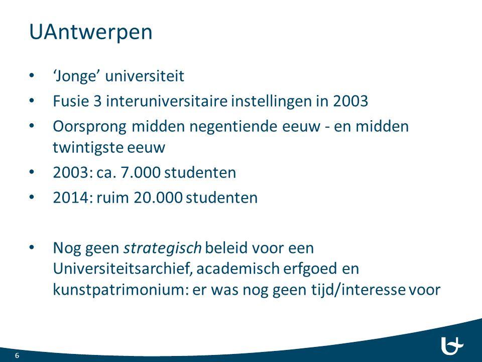 UAntwerpen 'Jonge' universiteit