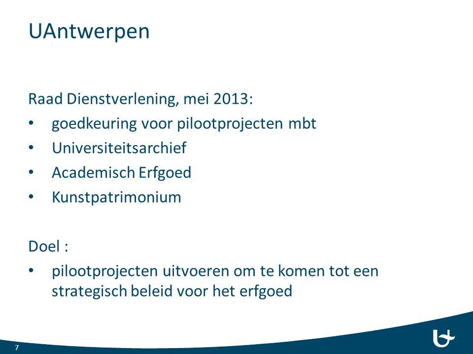 UAntwerpen Raad Dienstverlening, mei 2013: