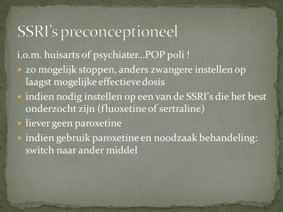 SSRI's preconceptioneel