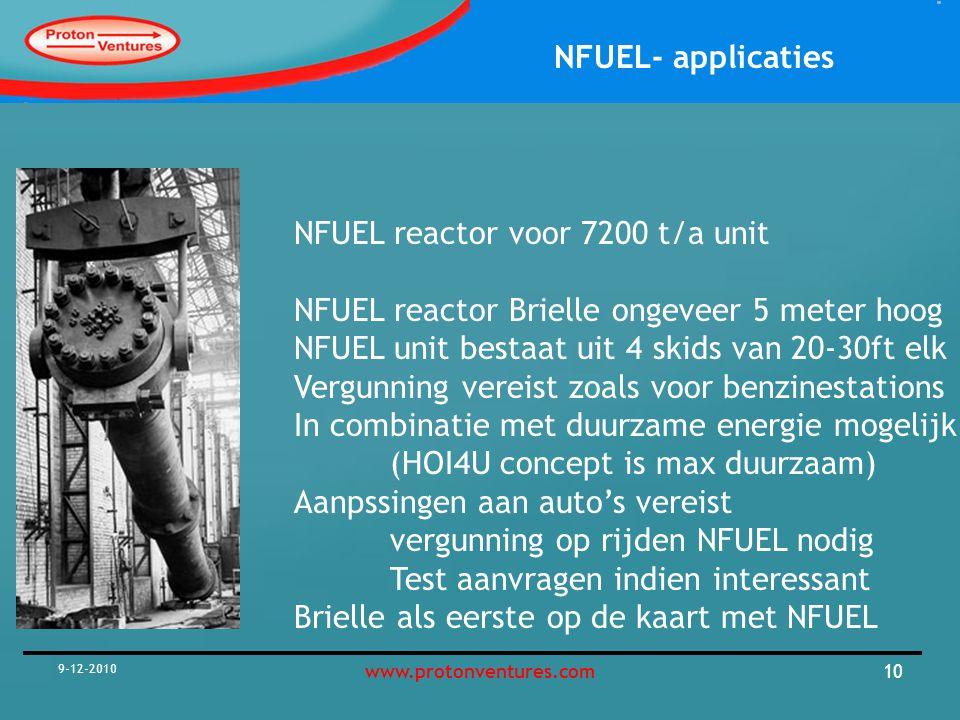NFUEL reactor voor 7200 t/a unit