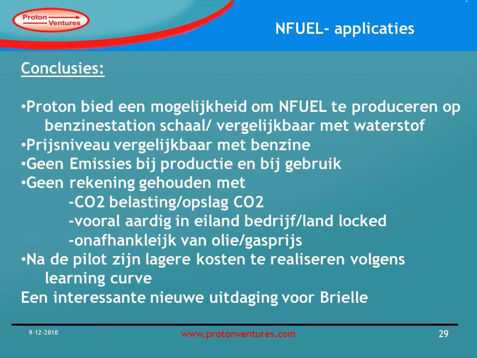 Proton bied een mogelijkheid om NFUEL te produceren op