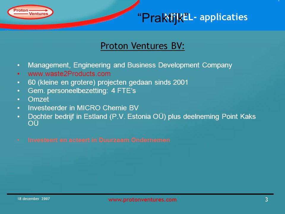 Praktijk Proton Ventures BV: