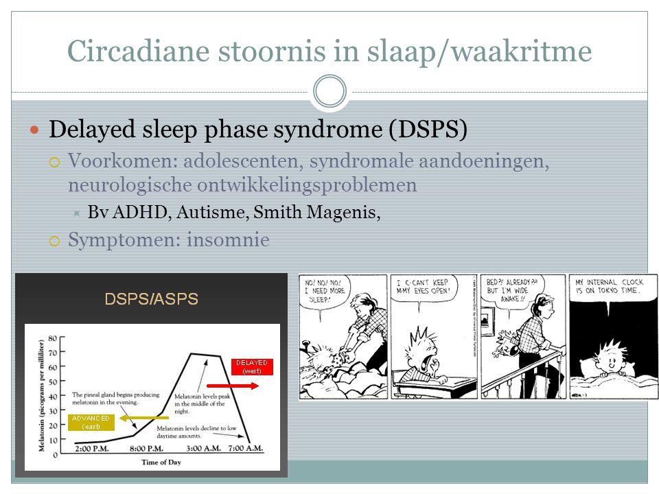 Circadiane stoornis in slaap/waakritme