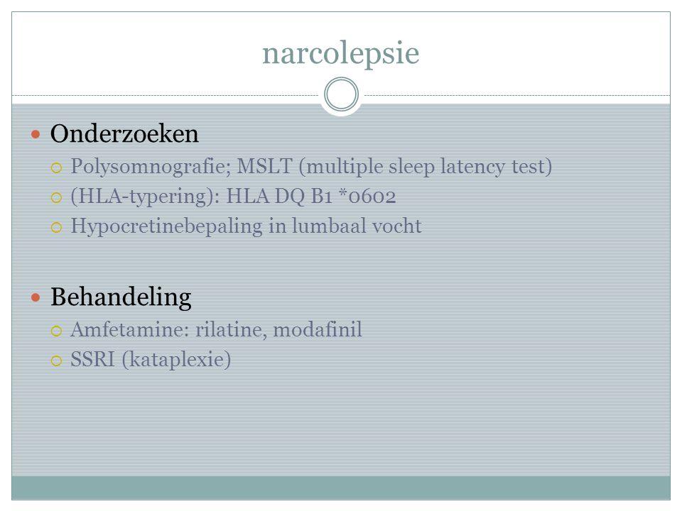 narcolepsie Onderzoeken Behandeling