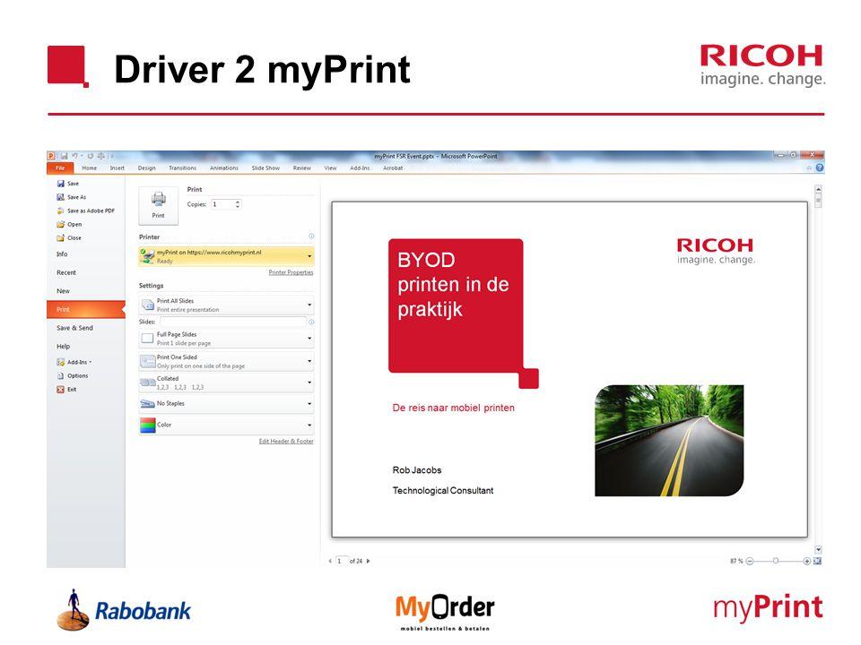 Driver 2 myPrint