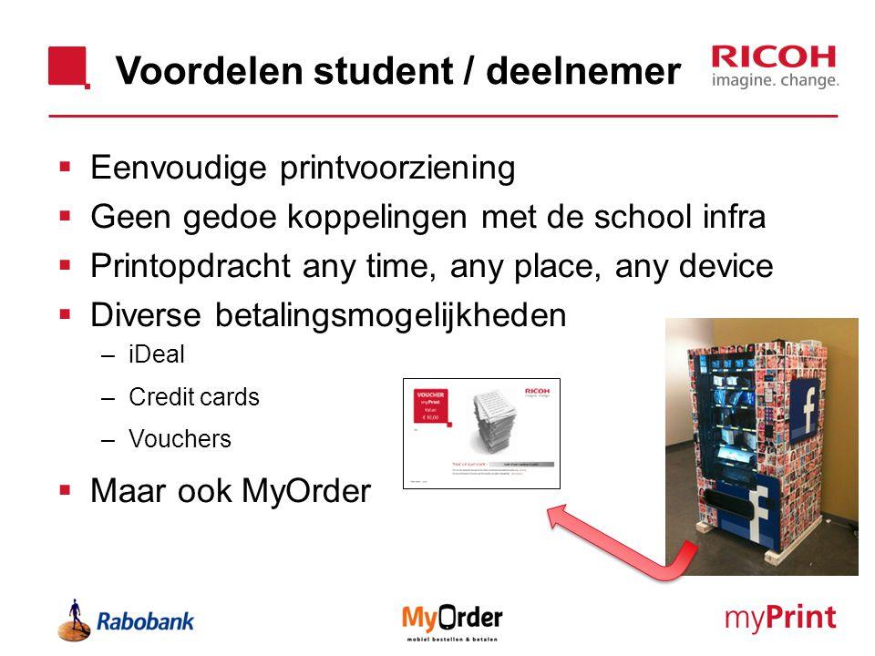 Voordelen student / deelnemer