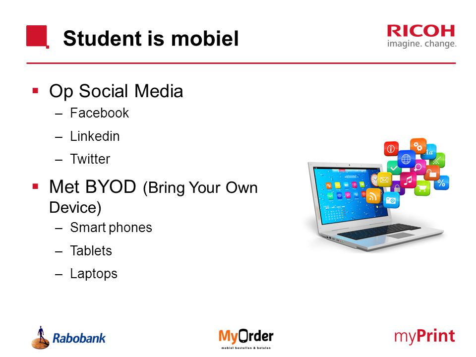Student is mobiel Op Social Media Met BYOD (Bring Your Own Device)