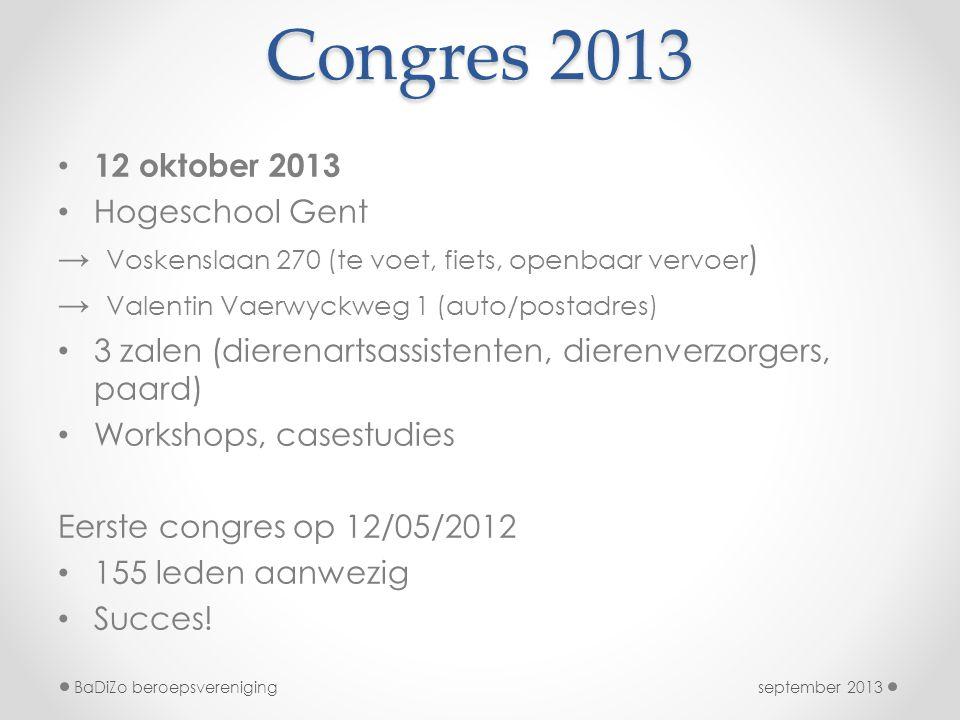 Congres 2013 12 oktober 2013 Hogeschool Gent